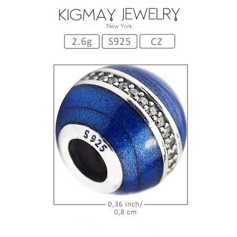 Blue Spacer Charm Bead - Kigmay Jewelry - New York