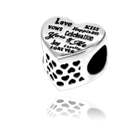Love & Happiness Charm Bead - Kigmay Jewelry - New York