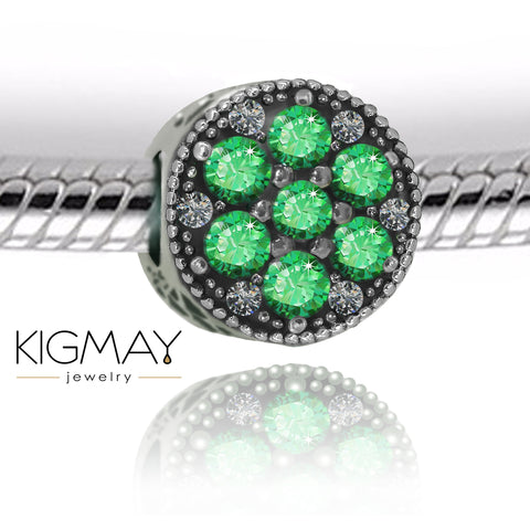 Green Crystal Charm Bead - Kigmay Jewelry - New York
