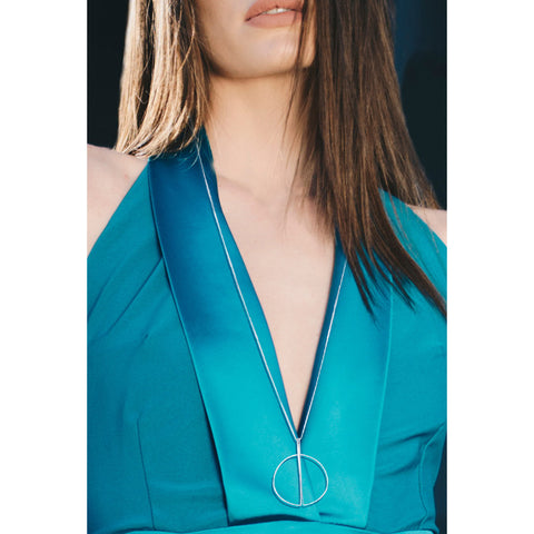 Hoop Bar Pendant Necklace - Kigmay Jewelry - New York