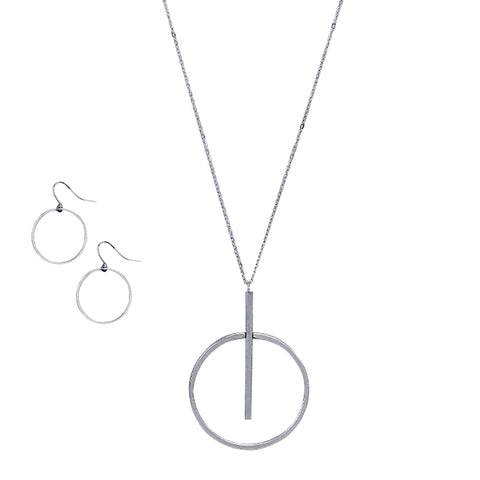 Long Hoop Pendant Necklace - Kigmay Jewelry - New York