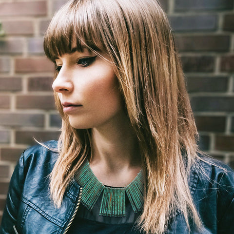 Green Patina Fringe Necklace - Kigmay Jewelry - New York