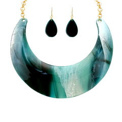 Crescent Statement Necklace - Kigmay Jewelry - New York