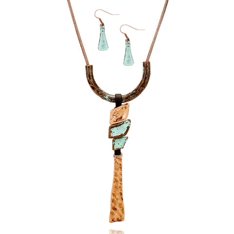 Long Two Tone Pendant Necklace - Kigmay Jewelry - New York