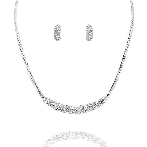Crystal Pave Statement Necklace - Kigmay Jewelry - New York