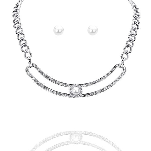 Crystal Pearl Collar Necklace - Kigmay Jewelry - New York