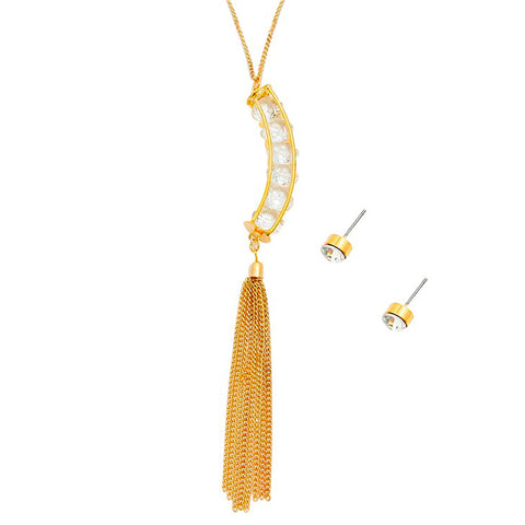 Long Tassel Pendant Necklace - Kigmay Jewelry - New York