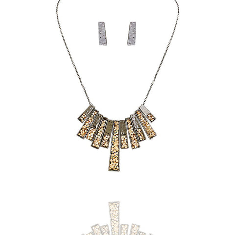 Neutral Fringe Bar Necklace - Kigmay Jewelry - New York