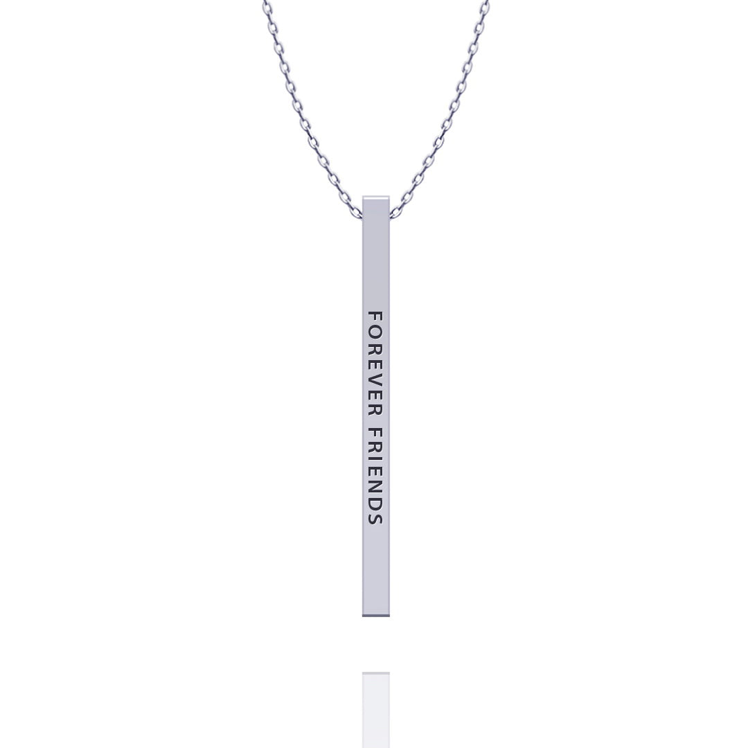 Forever Friends Bar Necklace - Kigmay Jewelry - New York