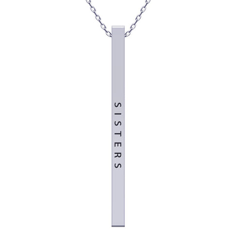 Sisters Vertical Bar Necklace - Kigmay Jewelry - New York