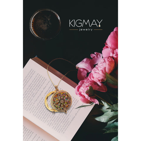 Medallion Locket Pendant Necklace - Kigmay Jewelry - New York