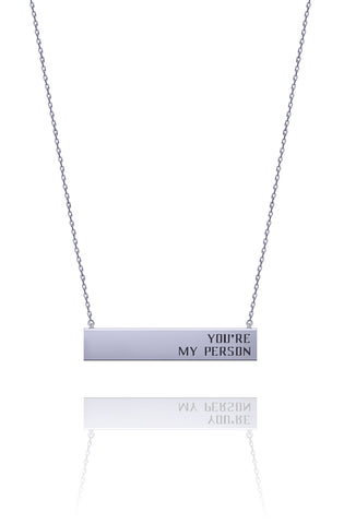 You're My Person Message Necklace - Kigmay Jewelry - New York