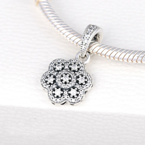 Winter Sparkling CZ Micro Pave Flower Pandora - Kigmay Jewelry - New York