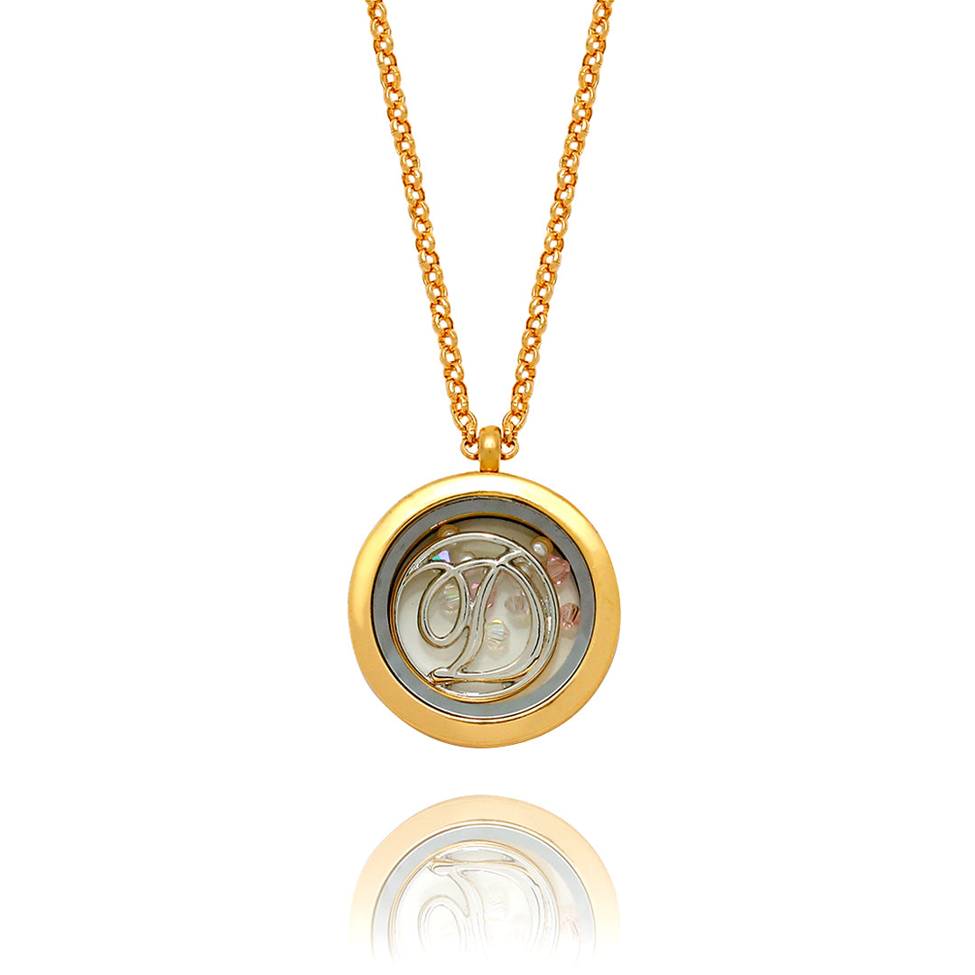 Floating Monogram Locket Necklace - Kigmay Jewelry - New York