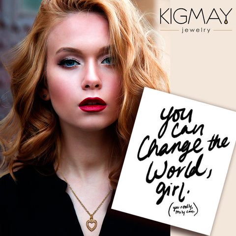 Heavenly Heart Necklace - Kigmay Jewelry - New York