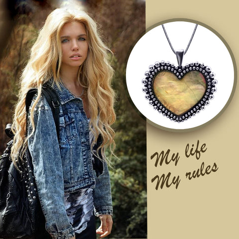 Pearl Of Heart Pendant Necklace - Kigmay Jewelry - New York