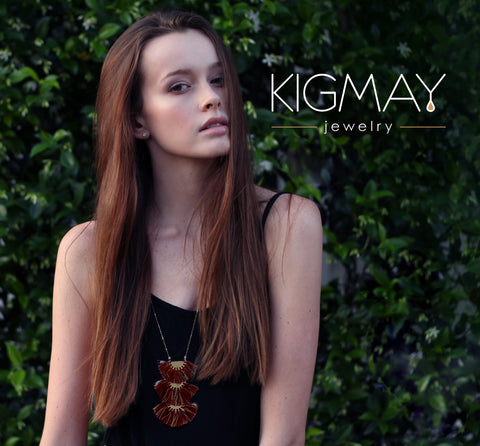 Triple Tassel Pendant Necklace - Kigmay Jewelry - New York