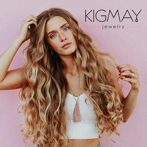 Tassel Feather Pendant Necklace - Kigmay Jewelry - New York