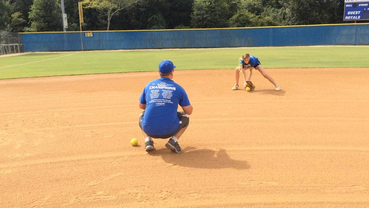 indoor fastpitch softball drills infielders