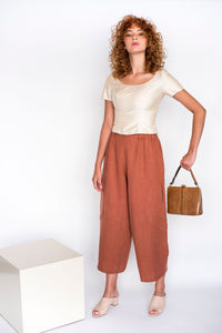 Big Circle Handmade Linen Pants