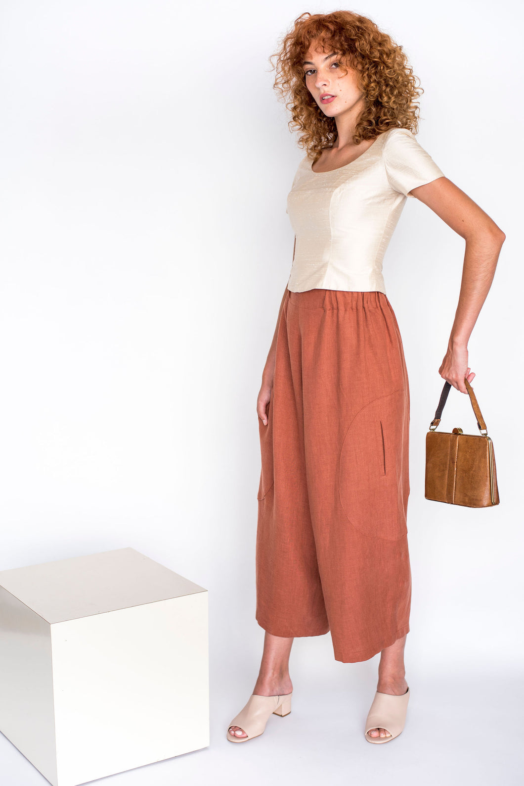 Big Circle Handmade Linen Pants Sizes S-L
