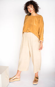 Big Circle Handmade Raw Silk Pants Sizes S-L