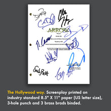 Arrow TV Pilot Episode TV Script Screenplay - Signed Autograph Reprint - Stephen Amell - Katie Cassidy - David Ramsey