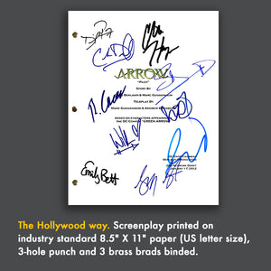Arrow TV Pilot Episode TV Script Screenplay - Signed Autograph Reprint - Stephen Amell, Katie Cassidy, David Ramsey, Willa Holland