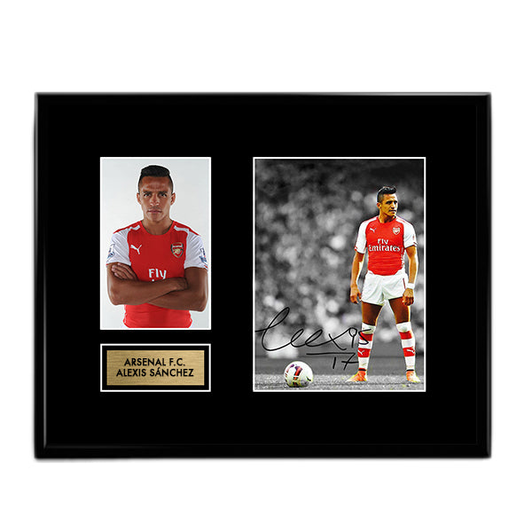 Alexis Sanchez - Arsenal FC Autographed Signed Photo Memorabilia