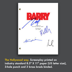 Barry Tv Signed Autographed Script Screenplay - Bill Hader - Stephen Root