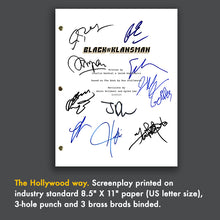 BlacKkKlansman 2018 - Signed Film Movie Script Screenplay Autograph