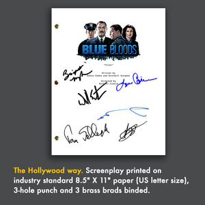 Blue Bloods TV Signed Autographed Screenplay - Donnie Wahlberg - Tom Selleck