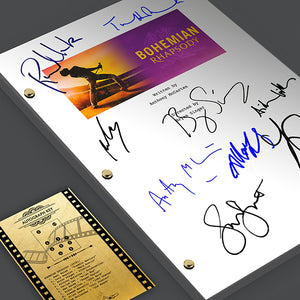 Bohemian Rhapsody Movie Screenplay Script Signed Autograph Rami Malek Freddie Mercury Lucy Boynton Bryan Singer