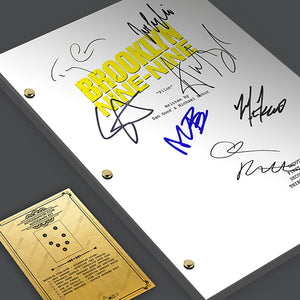 Brooklyn Nine Nine 99 TV - Script Signed Autograph Gift Poster RPT - Jake Peralta, Andy Samberg, Terry Crews, Melissa Fumero