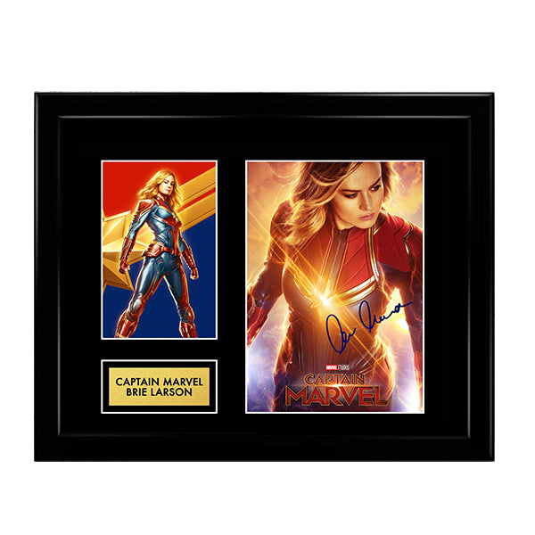 Captain Marvel Brie Larson Autograph artwork - Marvel Cinematic Universe