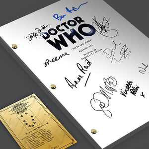 Doctor Who - Episode TV Script Screenplay Signed Autograph Reprint - David Tennant, Billie Piper, Freema Agyeman, Tardis, Daleks