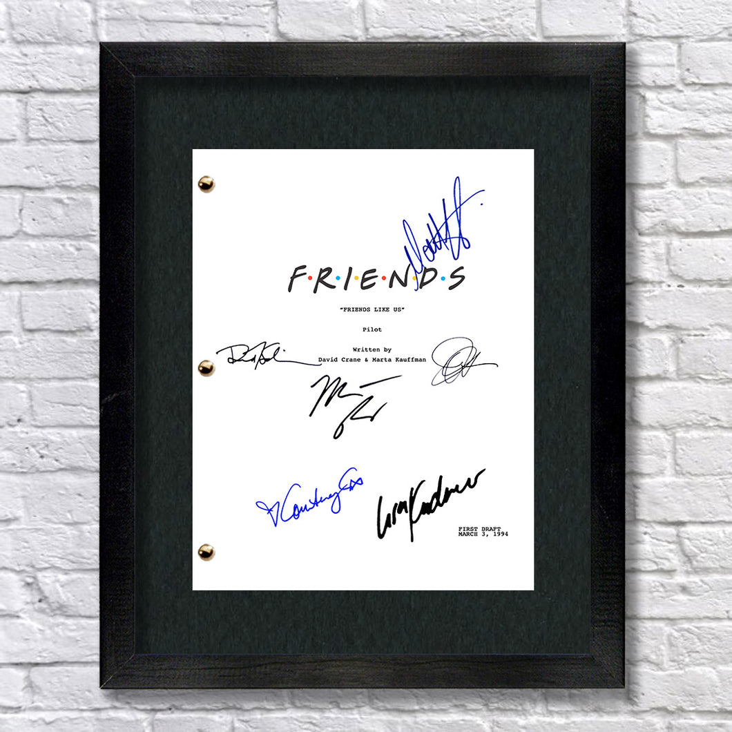 Friends TV Pilot Signed Autographed Script Screenplay Reprint - Jennifer Aniston - Courtney Cox - David Schwimmer - Matt LeBlanc