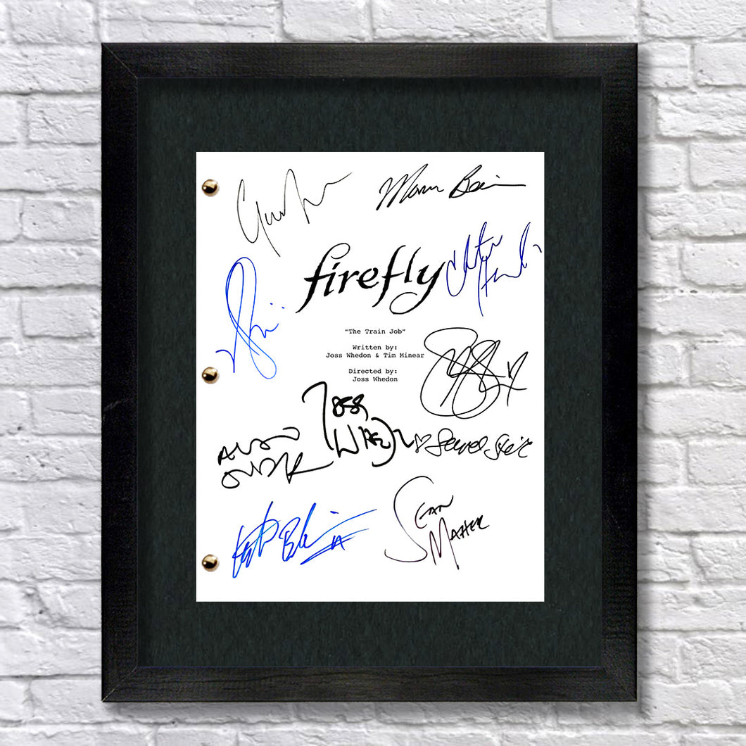 Firefly TV Signed Autograph Screenplay - Joss Whedon - Malcolm Reynolds - Morena Baccarin - Alan Tudyk - Gina Torres