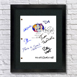 Futurama TV Signed Autograph Screenplay - Matt Groening - David Cohen - John Dimaggio