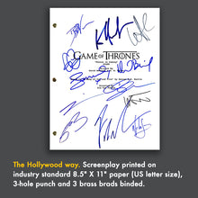 Game of Thrones - Signed Autographed Pilot TV Screenplay -  Kit Harington - Emilia Clarke - Sophie Turner - Peter Dinklage - Maisie Williams