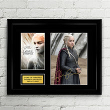 Daenerys Targaryen - Emilia Clarke - Autograph Signed Poster Art Print Artwork - Game of Thrones Season 7/8