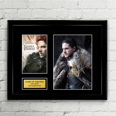 Game of Thrones - Jon Snow - Kit Harington Signed Autograph - House Stark Season 7-8
