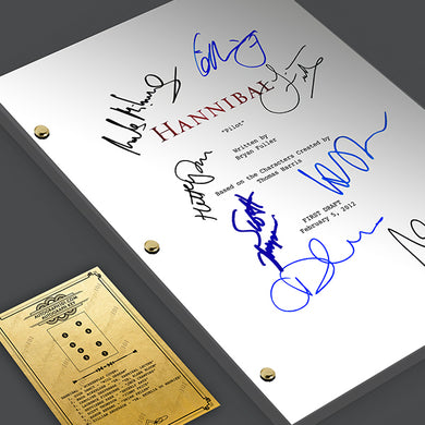 Hannibal TV Pilot Signed Screenplay