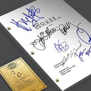 House TV Pilot Episode TV Script Screenplay - Signed Autograph Reprint - Hugh Laurie, Lisa Edelstein, Robert Sean Leonard