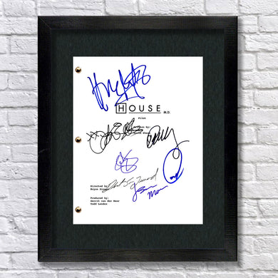 House M.D. TV Signed Script Screenplay Autograph Reprint - Hugh Laurie - Lisa Edelstein -Robert Sean Leonard