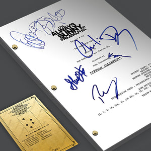 It's Always Sunny In Philadelphia Pilot Episode TV Script Screenplay Signed Autograph Reprint - Charlie Day, Glenn Howerton, Rob McElhenney