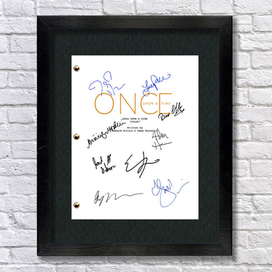 Once Upon A Time TV Show Pilot Script Screenplay Signed Autograph Reprint - OUAT Ginnifer Goodwin, Jennifer Morrison, Lana Parrilla