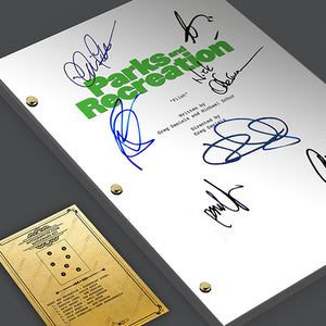 Parks and Recreation Tv Signed Autographed Script Screenplay
