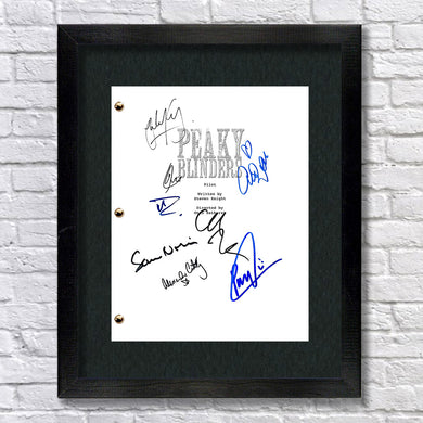 Peaky Blinders Tv Script Screenplay Signed Autograph Reprint - Cillian Murphy - Paul Anderson - Sam Neil - Helen McCrory