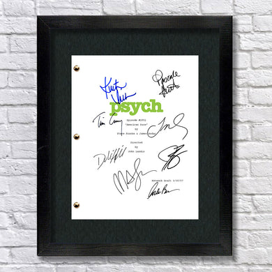 Psych Signed Script Screenplay Autograph Reprint - James Roday - Dule Hill - Timothy Omundson - Corbin Bernsen